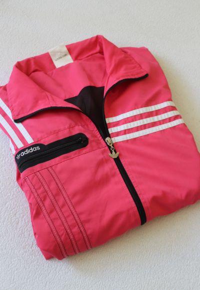 Bluzy różowa bluza adidas L