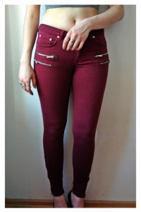 Bordowe spodnie Denim Rebel...