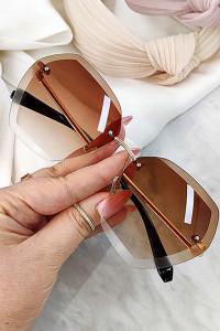 Okulary przeciwsłoneczne z brązowymi szkłami MEGA modny model HIT