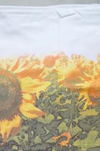 duzy obrus w kwiaty słoneczniki obrus z bawełny ładny obrus na ...