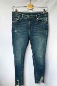Spodnie Dzinsowe H&M Postrzępione Nogawki M 38 Jeansy...
