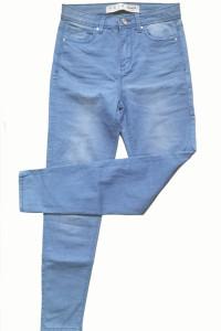 jeansy Denim co 34 36 S niebieskie wysoki stan...