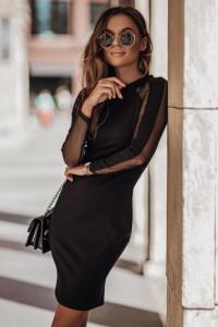 Sukienka czarna ołówkowa mini 36 38 40 42 JESSIKA 209...