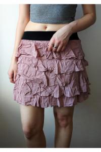 Pudrowa spódniczka Zara Basic...