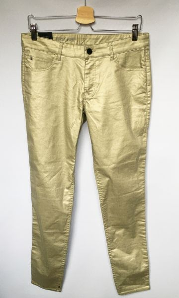 Spodnie Spodnie Złote Woskowane NOWE 30 L 40 2NDDAY Skinny
