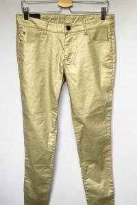 Spodnie Złote Woskowane NOWE 30 L 40 2NDDAY Skinny...