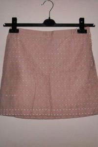 różowa spódnica mango s...