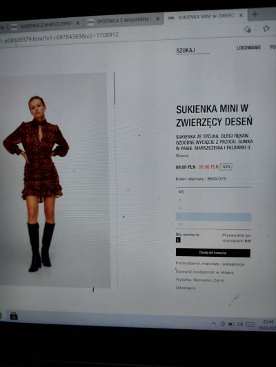 Ubrania Sukienka Zara z drapowaniem print wężowy