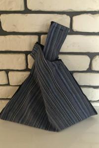 Handmade torebka worek do ręki twist w paski NOWA...