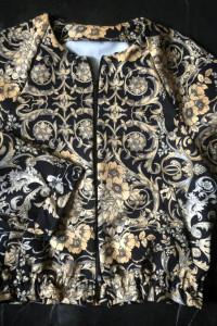 Handmade bluza bomberka barok print rozm S 36 NOWA...