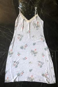 TRIUMPH koszulka nocna szara w kwiaty rozm M 38 stan BDB