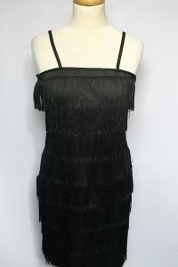 Sukienka Czarna Frędzle M 38 Smiffys Frędzelki Boho...