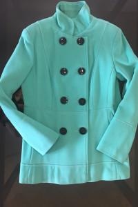 Nowy płaszcz w zielonym morskim kolorze...