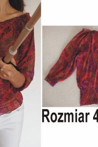 Kolorowa letnia bluzka hiszpanka rozmiar 42 44 46
