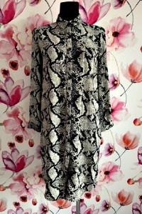 atmosphere sukienka koszulowa modny wzór węża skora hit 34...