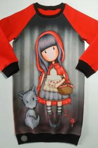 Piękna długa bluza z lalką Gorjuss Czerwony Kapturek...
