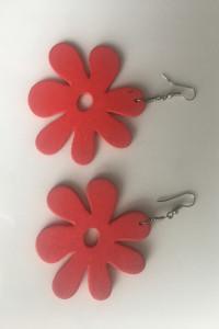 Kolczyki czerwone kwiatki...