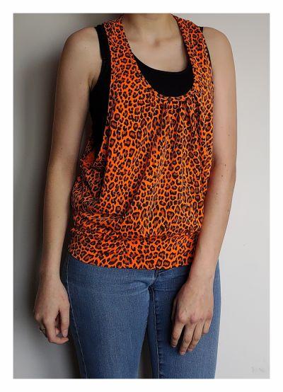 Koszulki Pomarańczowa neonowa bokserka