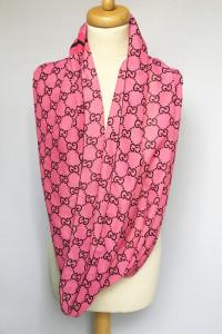 Komin Różowy Gucci Logowany Logo Róż...