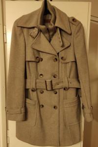 Płaszcz zimowy z wełną dwurzędowy jak nowy...