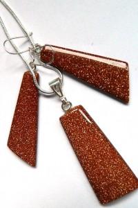 Piasek pustyni minimalistyczny zestaw biżuterii ArtDeco...