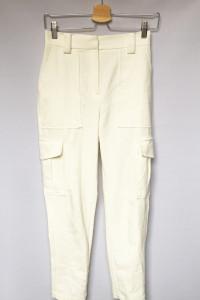 Spodnie Kremowe Bojówki XS 34 Gina Tricot Rurki...
