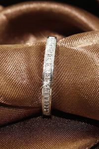 Nowy pierścionek obrączka cyrkonie srebrny srebro 925 prosty el...
