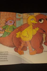 Ulica sezamkowa hej to ja żółtodziób książka dla dzieci...