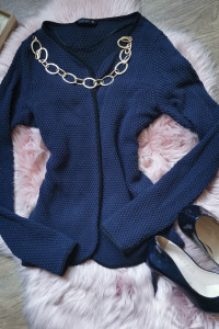 granatowy sweter Only...