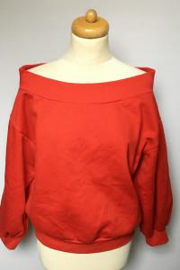 Bluza H&M Czerwona Odkryte Ramiona Hiszpanka L 40...