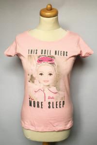 T Shirt XXS 32 Różowa Barbie Koszulka Pudrowy Róż NOWA...