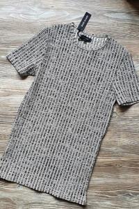 T shirt koszulka z krótkim rękawem bluzka szary...