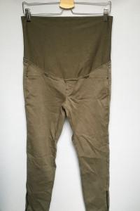 Spodnie Szare H&M XL 42 Zip Suwaki Ciążowe Długość 7 8...