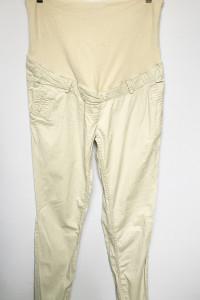 Spodnie H&M Mama L 40 Beżowe Ciążowe Rurki...