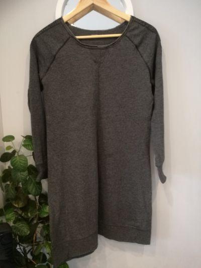 Bluzy Długa siwa bluza H&M rozm M L