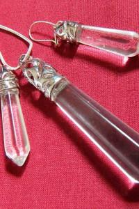 Oczyszczający kryształ górski zestaw biżuterii wisior i kolczyk...