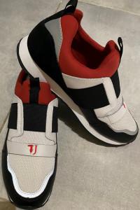 Trussardi Jeans TJ buty biało czarno czerwone wkładane Męskie r...