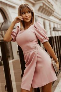 Sukienka z bufkami kolory S M L XL kolory różowa...