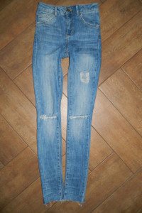 Newer Denim spodnie jeans rurki dziury roz 32 34...