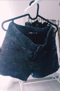 szorty jeansowe wysoki stan...