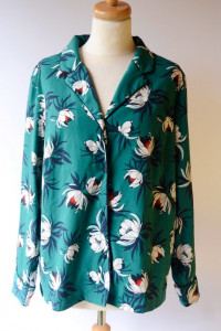 Koszula Zielona Kwiaty Lindex L 40 Elegancka...