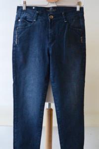 Spodnie Jeans Dzins Marszczone 28 M 38 By Bessie...