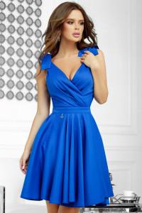 Sukienka rozkloszowana kokardy 34 36 38 40 kolory chaber...