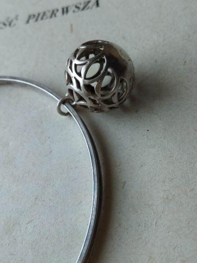 Bransoletki Warmet koło bransoletka dyndająca kulka ażurowa trzcinka