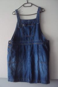 jeansowa spódnica ogrodniczka...