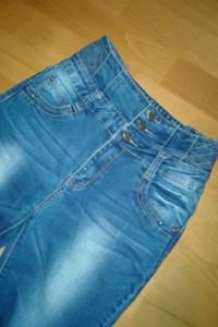 spodnie z wysokim stanem rozmiar M