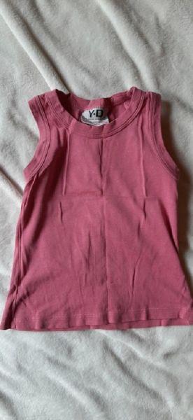 Bluzki Różowa bluzeczka na ramiączkach 9 10 lat
