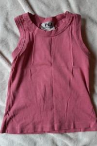 Różowa bluzeczka na ramiączkach 9 10 lat...