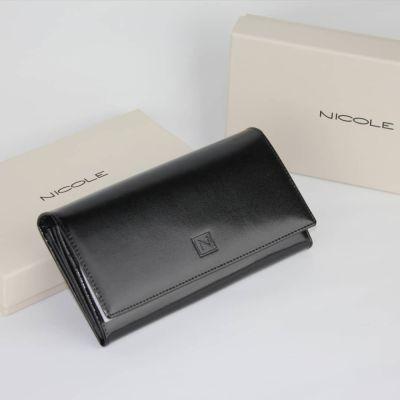 Portfele Damski portfel z naturalnej skóry Nicole