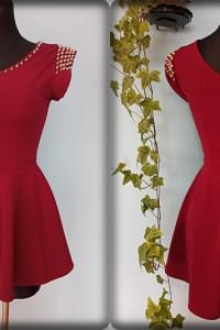 elegancka bluzka baskijka Vintage ćwieki